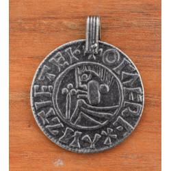 Vikinge mønt stor amulet