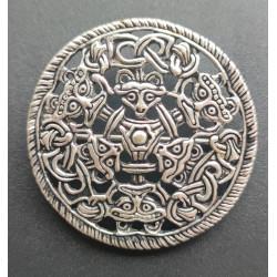 Bjødstad broche i Sølv. Fundet ved Tromsø i Norge og dateret til vikingetiden.