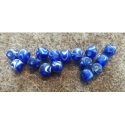Blå viking glas perle Kaupang