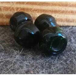 Mørke grøn viking glasperle...