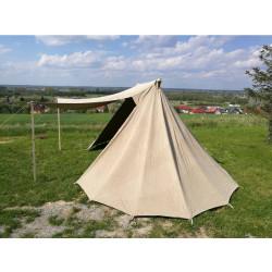 Viking telt med markedsåbning i hør 4x6 meter