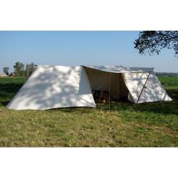 Saksisk lang telt 4x8 m i hør