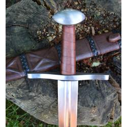 Sent vikingesværd med skede